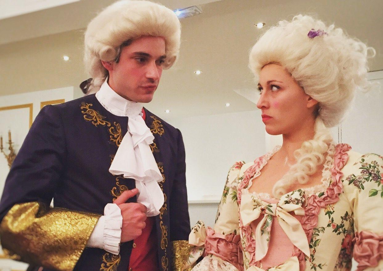 Grégoire et Mathilde dans Scandales à la cour du Roi Soleil