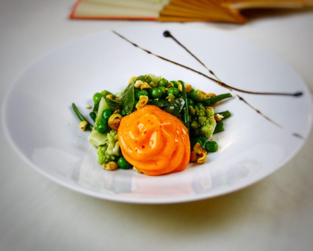 Menus gastronomiques aux recettes d'époque - Salade végétale Esprit Jardin