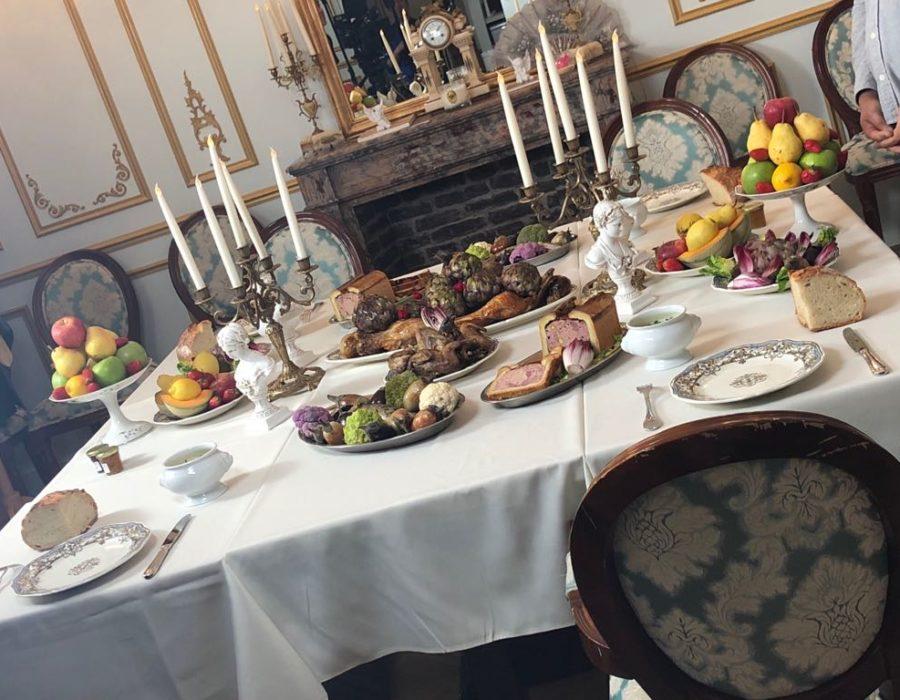 Photographies Théâtre Participatif - Banquet Louis XIV - Table garnie